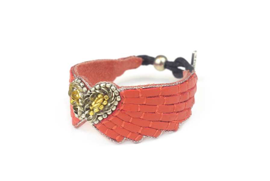 Bracelet cuir Ange | Mandarin | Photo 2