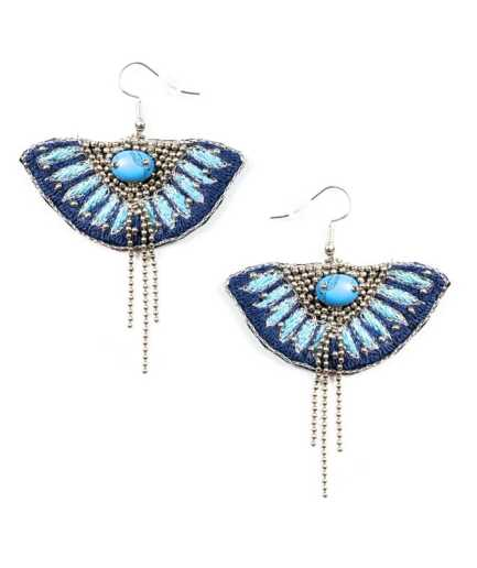 Boucles d'oreilles Brava Marine/Turquoise NAHUA