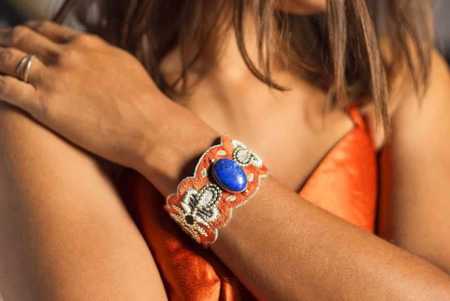 Bracelet chic Opera | Blue/Copper | Photo 1