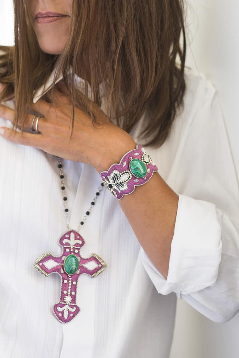 Bracelet chic Opera | Green/Purple | Photo 1