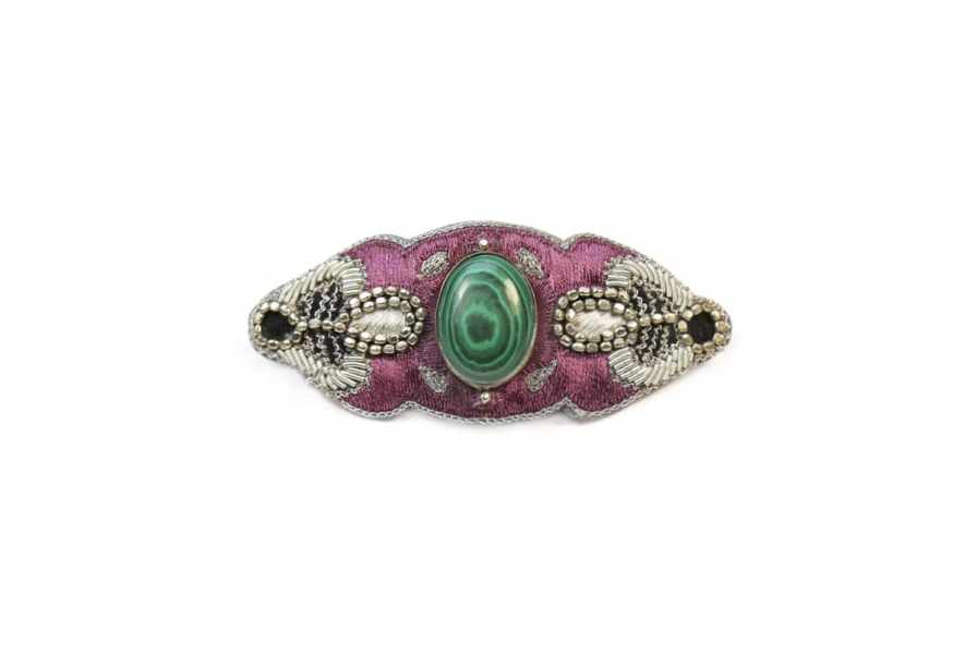 Barrette chic Opheline | Green/Purple | Photo 2