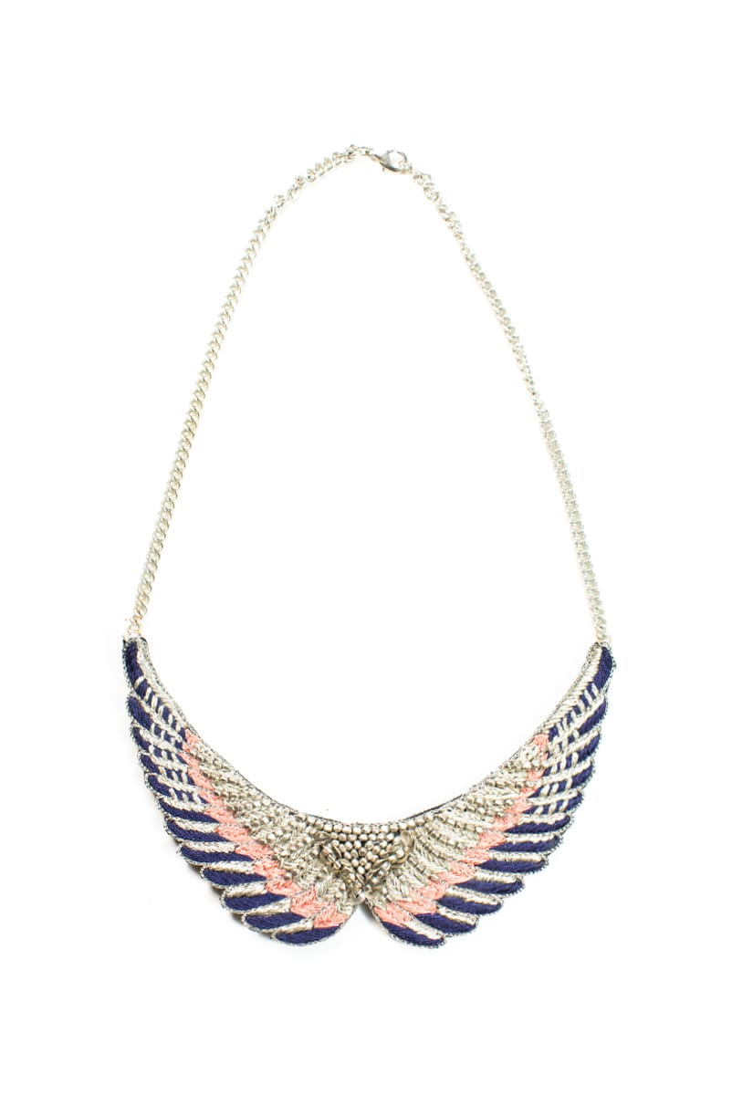 Collier bohème Shaman | Blue/Apricot | Photo 1