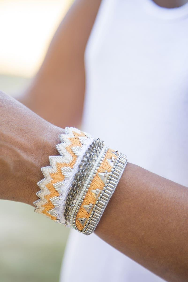 Bracelet ethnique Maheswari | Melon | Photo 1