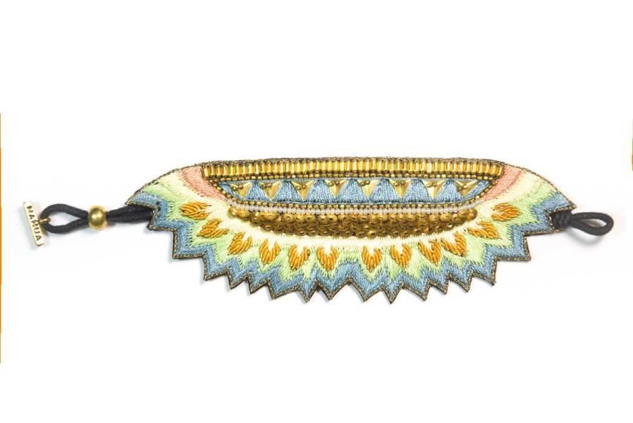 Bracelet ethnique Maheswari | Aqua | Photo 3
