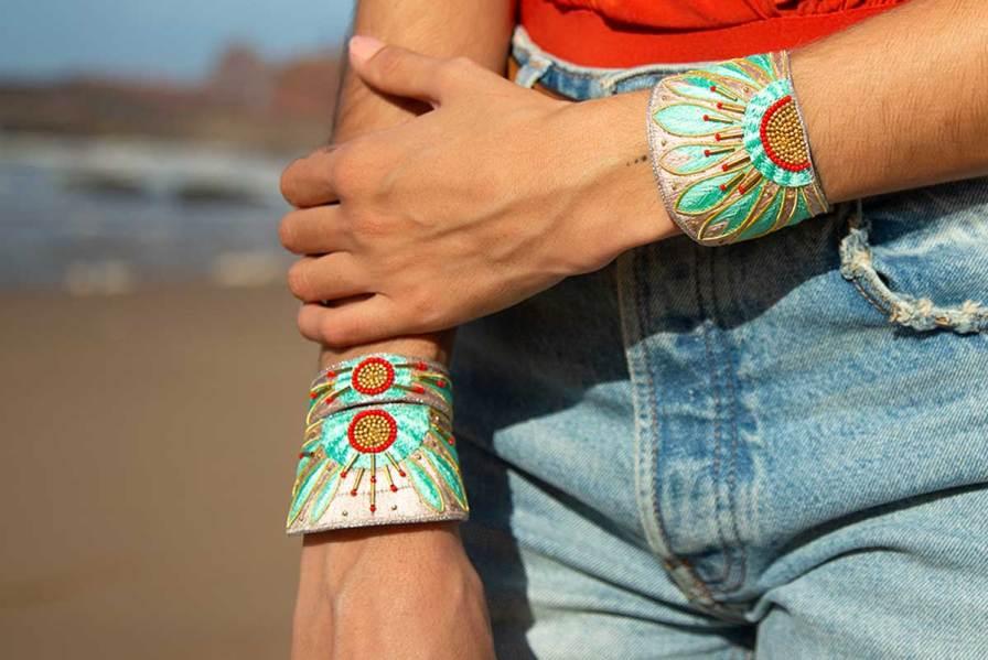 Bracelet ethnique Apauline   Jade/Straw   Photo 1