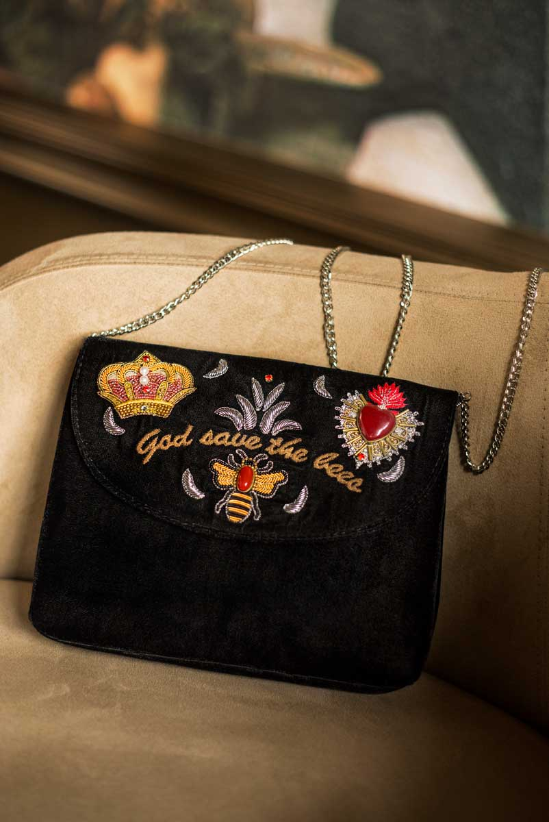 Pochette Royal   Velours noir   Photo 2