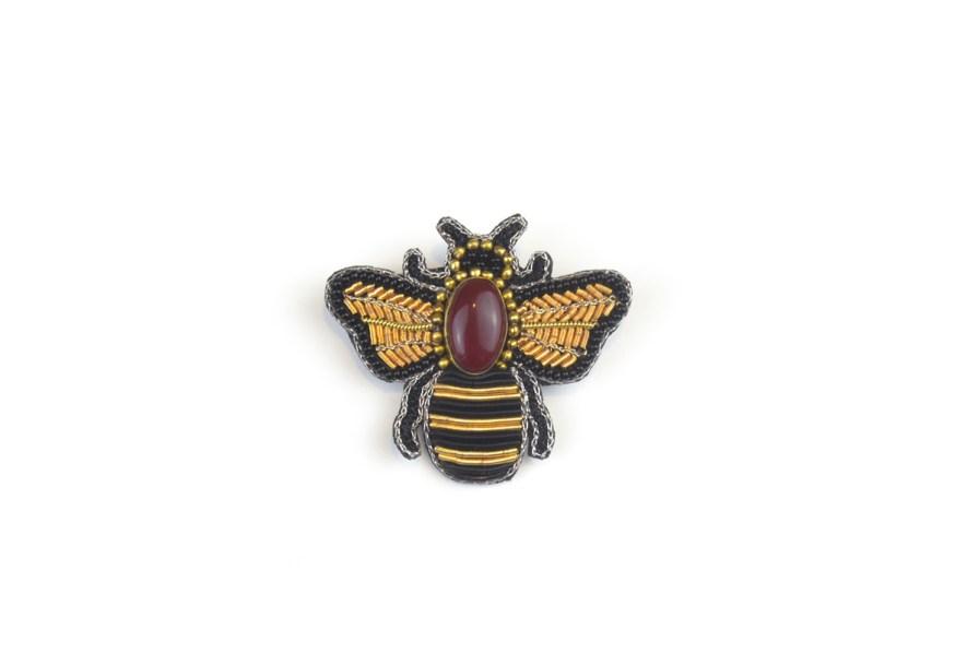 Broche abeille Royco | Rouge | Photo 2