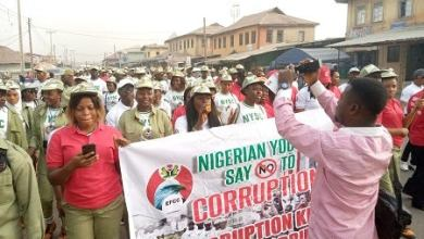Photo of EFCC, NYSC march against corruption