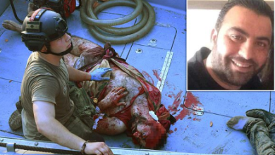 Photo of Port Worker In Beirut, Lebanon Found Bloodied And Alive 30 Hours After Being Blown Into The Sea By The Explosion(Photo)