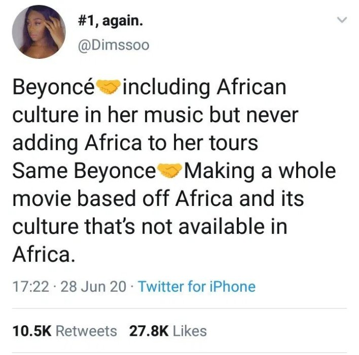 beyonce received backlashes over her NGO Comments in Africa