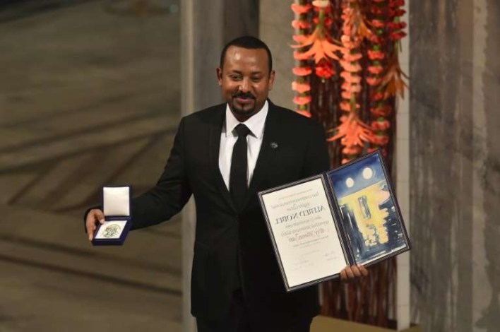 Abiy Ahmed Receiving Award Image used on Widly Successful Modern Africans