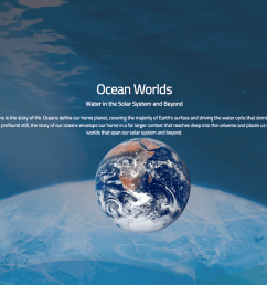 the ocean worlds nasa website provides a cool online reference for learning all about the history and presence of water in our solar system and beyond  [ 1427 x 900 Pixel ]