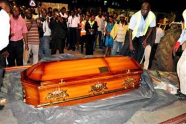 Photos Of Juliana Kanyomozis Son Body Arriving In Entebbe