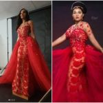 A Model Wore That Controversial Wedding Dress Before Mercy Aigbe (photos)