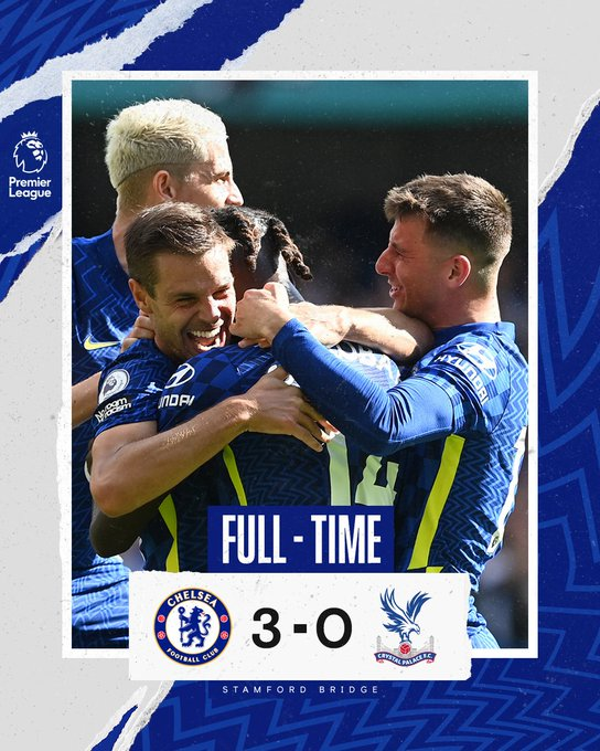 [Football Highlights] Chelsea 3 – 0 Crystal Palace (Watch here)