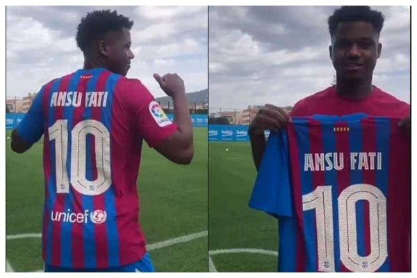 THIS IS SHOCKING!! Ansu Fati Handed The No 10 Shirt At Barcelona