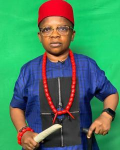 Chinedu Ikedieze in traditional attire.