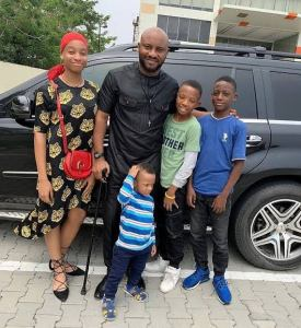 Yul Edochie and children.