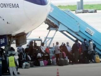 268 Nigerians arrive Abuja from China