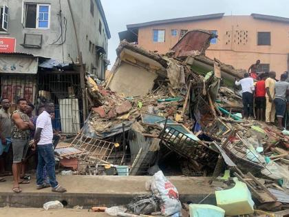 Lagos : One person dead, six rescued alive in collapsed three storey building