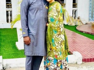 Adama Indimi and Hubby pay courtesy visit to her father-in-law