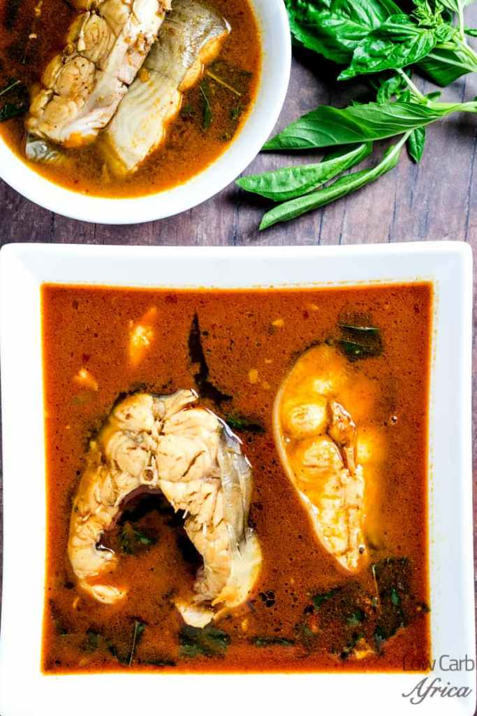 nigerian fish pepper soup served and ready to eat