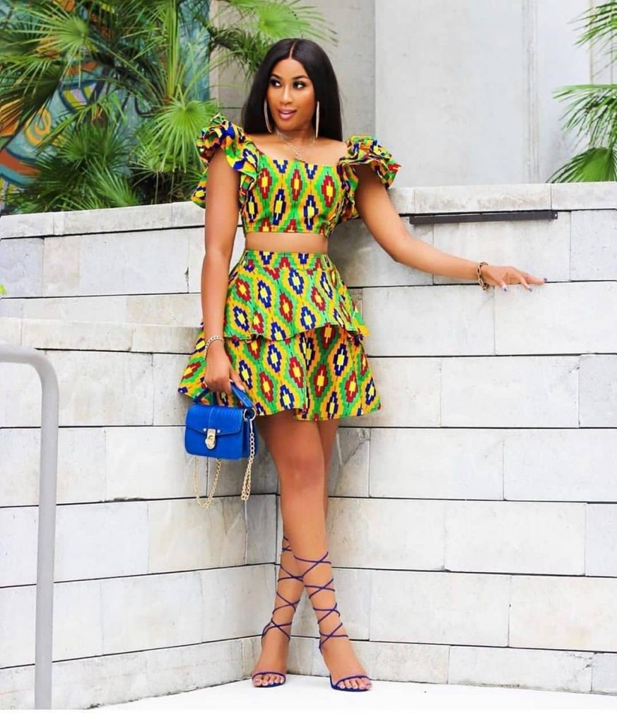 latest ankara skirt and blouse styles for ladies
