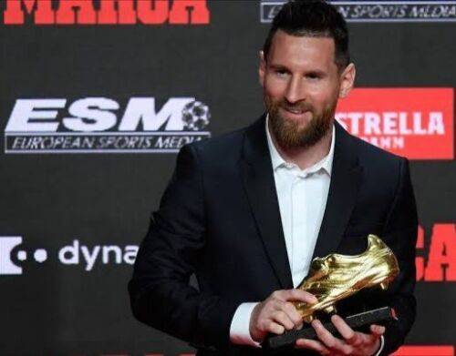 Sixth Golden Boot won by Messi