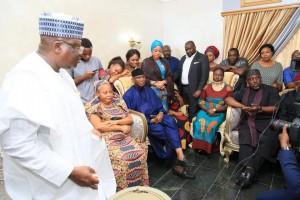 President of the Senate, Ahmad Lawan, has led a delegation of the Senate to the home of Senator Benjamin Uwajumogu in Abuja. Uwajumogu died on Wednesday in Abuja.