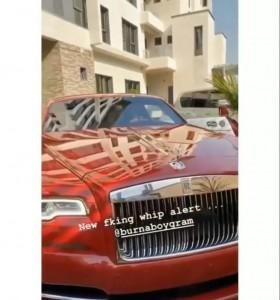 Burna Boy Buys Rolls Royce As Christmas Gift Singer Burna Boy has purchased a brand new Rolls Royce for Christmas.