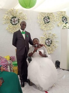 A happy bride has wedded her husband with the backing of her bridal train, all on wheelchairs. A physically challenged bride has against all odds tied the knot with her lover in Abuja.