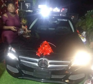 Former Big Brother Naija housemate, Natacha Akide aka Trident  Queen has been gifted a brand new Mercedes Benz from her fans on her birthday.