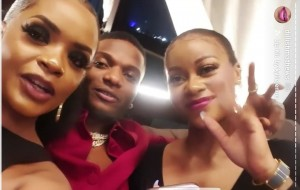 Wizkid bidded for a dinner date with Dillish at Osas Ighodalos Laughfest charity auction two days ago in support of 'kick out malaria'.
