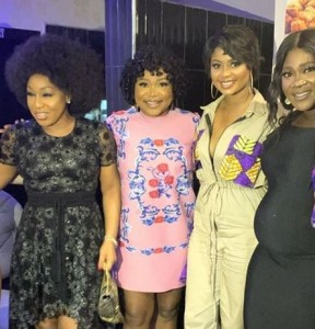 Top Nigerian actresses have showed up for the 40th birthday party bash of their colleague, Uche Jombo. Popular actress, Uche Jombo celebrated her 40th birthday recently and her colleagues in the industry came out to support her.