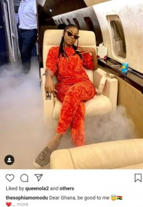 Davido has shown love to his first baby mama, Sophia Momodu, and their daughter Imade by taking them on vacation to Ghana.