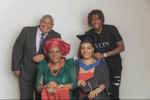 A Nigerian football star, Alex Iwobi has shared with his fans a cute family photo to celebrate the new year. Nigerian international and Everton star, Alex Iwobi has celebrated the new year by sharing a rare family photo.