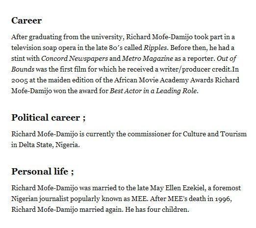 richard mofe damijo biography