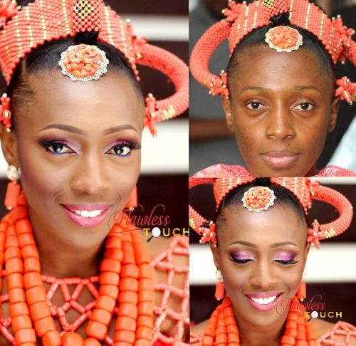 picture of edo bride's makeover before and after