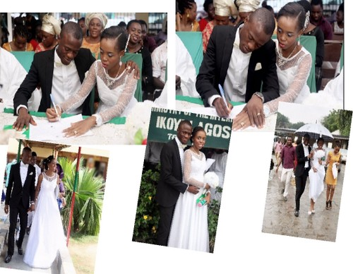 pictures court registry wedding nigerian couple