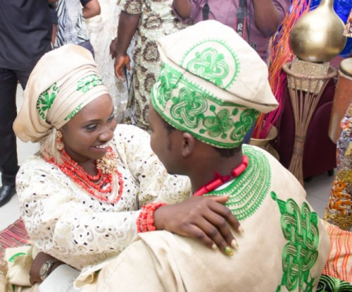 picture of couple staring at each other at yoruba marriage introduction