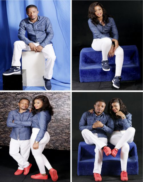 Nigerian couple pose in their engagement shoot photos