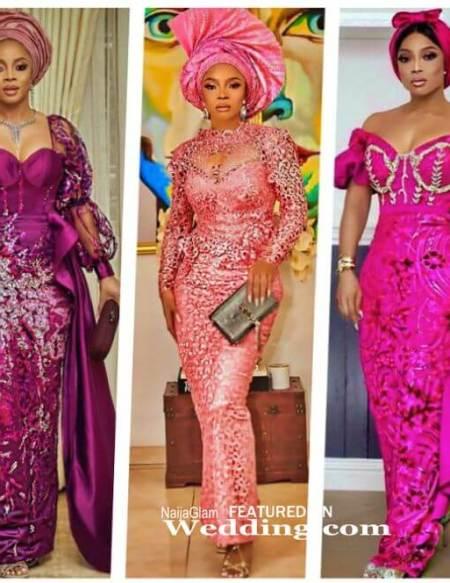 picture of toke makinwa's nigerian celebrity ankara styles