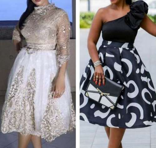 photos of toke makinwa's nigerian celebrity dress styles (left: a Toju Foyeh design)