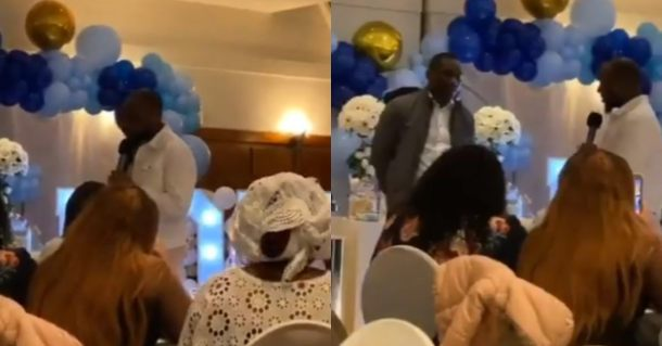 Davido prays for his son, David Ifeanyi Jnr, at his christening (Video)