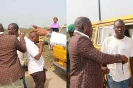 Lagos deputy governor apprehends commercial drivers driving against traffic
