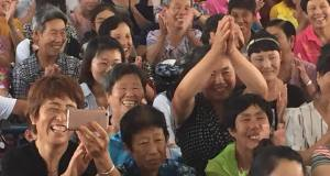 Worshippers in rural China