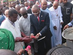 Adeboye Lays Akwa Ibom Worship Center Foundation