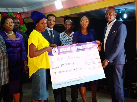 Ruth receiving a sum of N100,000