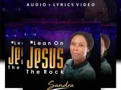 lean on Jesus the rock