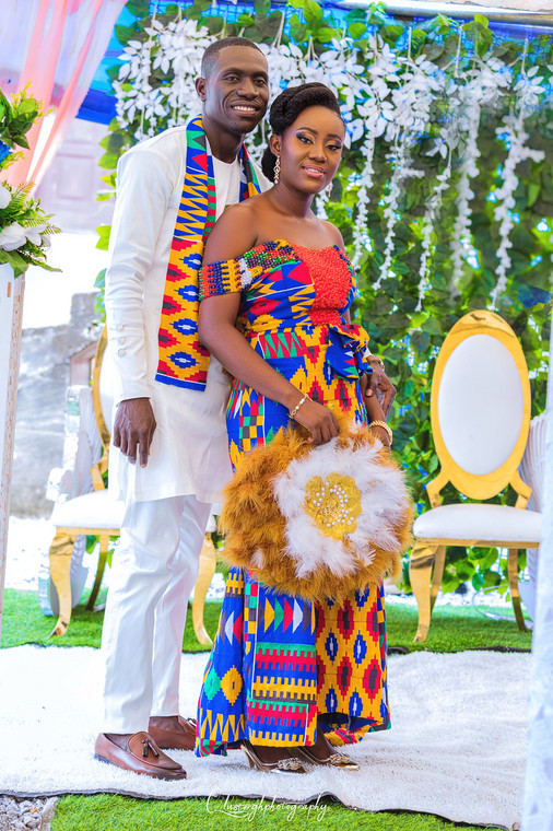This adorable couple gave the perfect Kente goals during their marriage ceremony